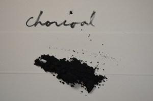 Kintsugi materials, Charcoal