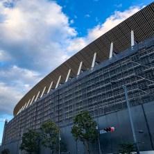 建設されつつあった新国立競技場