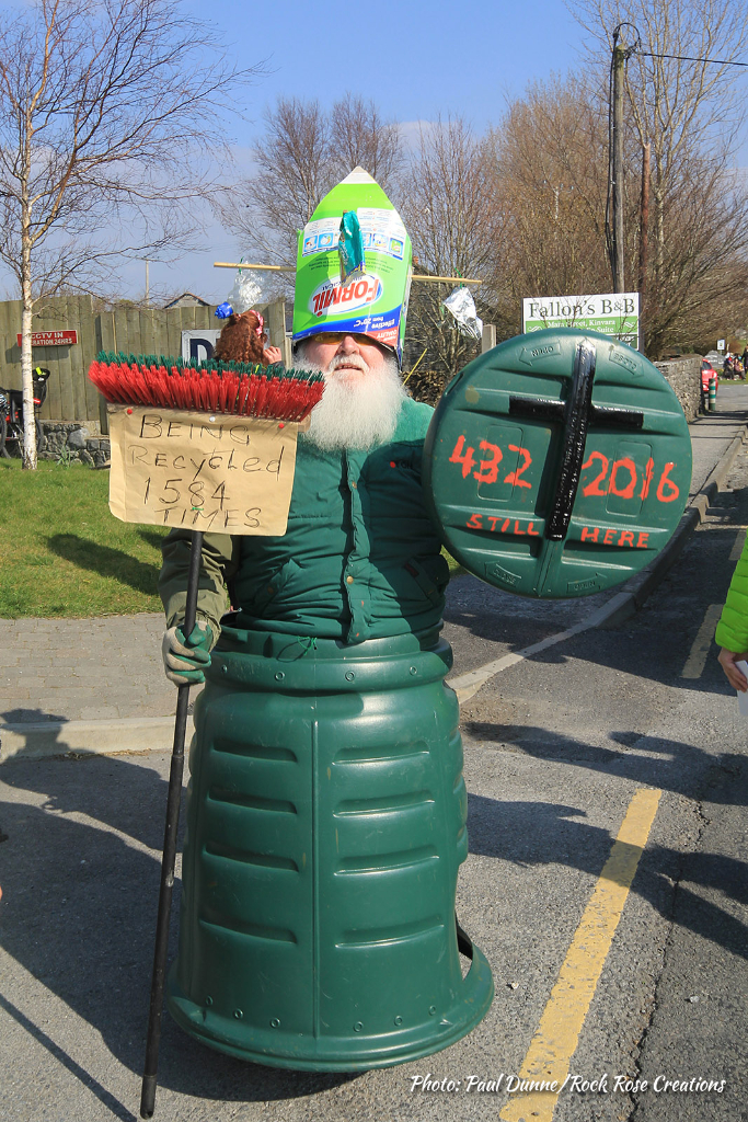 St. Patrick makes an appearance at the Kinvara St. Patrick's Day Parade