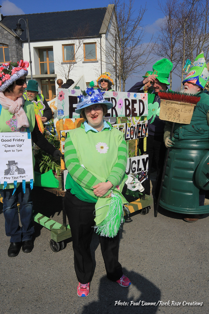 Hillary Murray enjoying the Kinvara St. Patrick's Day Parade