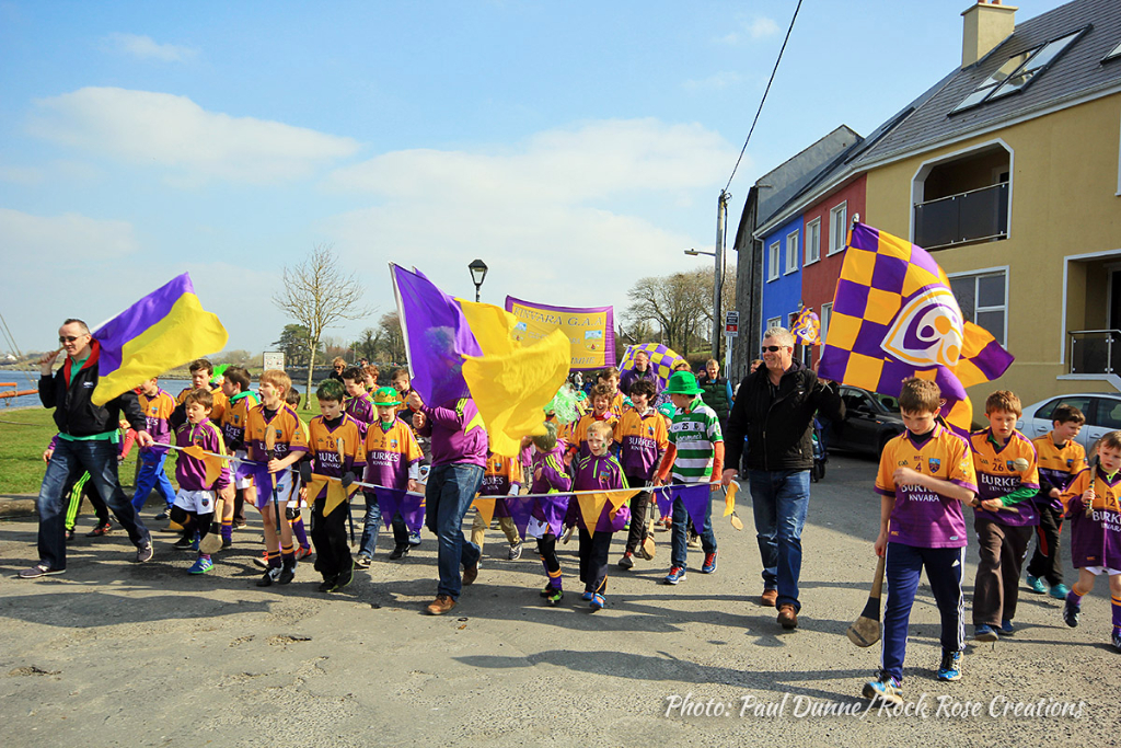 Kinvara GAA Club at the  Kinvara St. Patrick's Day Parade