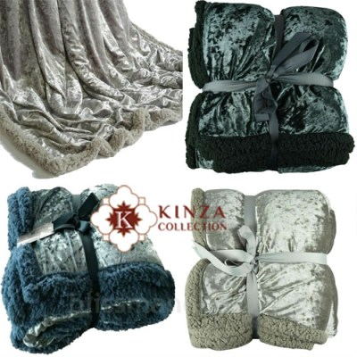 Luxury RollMink Faux Fur Throw Plain Fleece Super Soft Blanket Snuggle Warm NEW