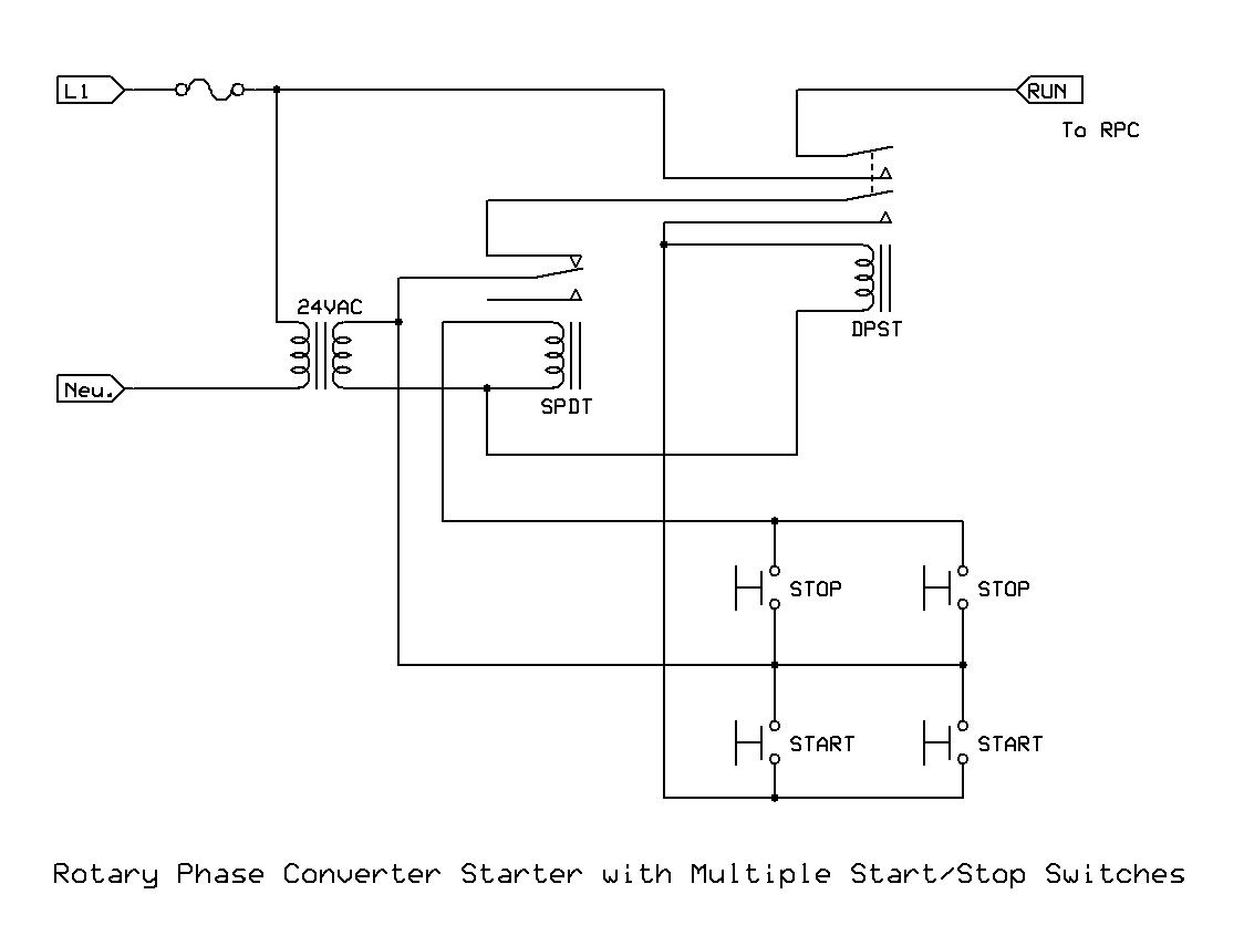 start stop jog wiring diagram camera parts phase converter multiple remote starters the home machinist