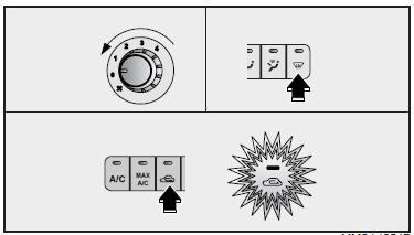 Kia Optima: How to cancel automatic the outside (fresh