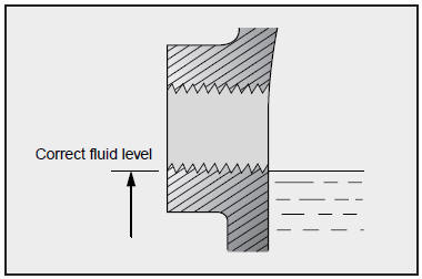 Kia Optima: Checking the Manual Transaxle Oil Level