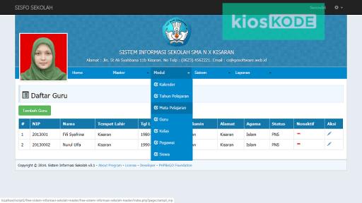 Download aplikasi sistem informasi sekolah berbasis web full database