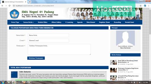 Download website sekolah dengan codeigniter full database