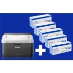 STAMPANTE BROTHER LASER HL-1212W + 5 TONER 1K INCLUSI - A4  20PPM USB WIFI 150FG ADF IPRINT&SCAN