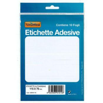 ETICHETTE ADESIVE 10FF 115X70MM