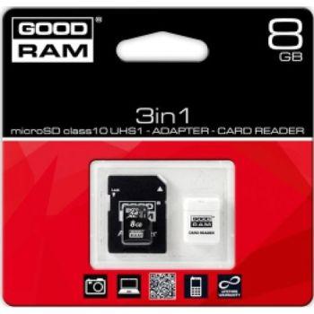 MICRO SDHC 8GB CLASSE 10 UHSI+CARD READE