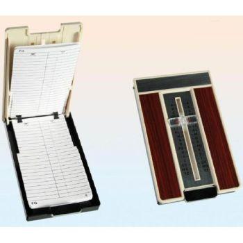 RUBRICA TELEFONICA RETRO IN PLASTICA     CON DECORAZIONE IN LEGNO CM.16