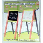 LAVAGNA LEGNO BIFACCIALE 80X40CM         C/GESSETTI/PENNARELLI E CANCELLINO