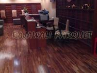 pemasangan lantai kayu merbau di PT semen Indonesia