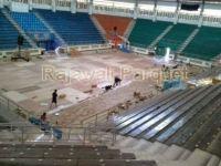 pemasangan lantai kayu di citra arena
