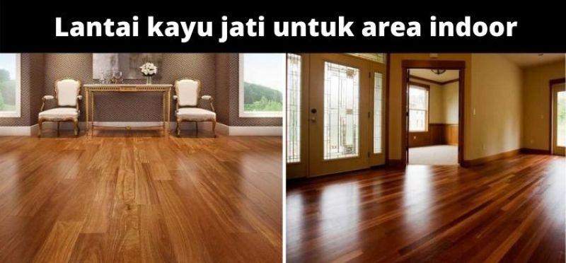 lantai kayu jati untuk area indoor