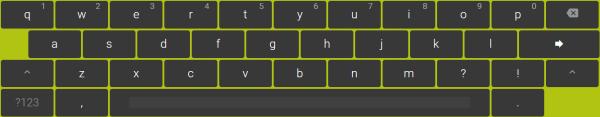 Virtual Keyboard example
