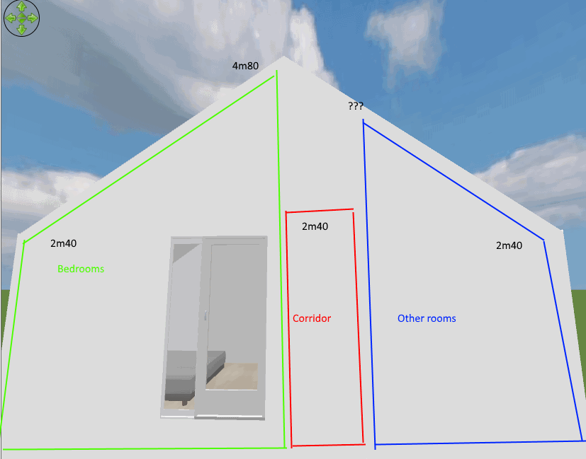 Furniture and walls are not handled the same way, and you can't set directly the elevation of. Sloping Walls And Multiple Ceiling Heights Sweet Home 3d Forum View Thread