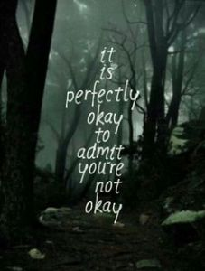 admitting your are not ok