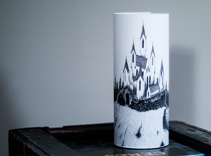Paper lantern with illustration - kirabo.dk