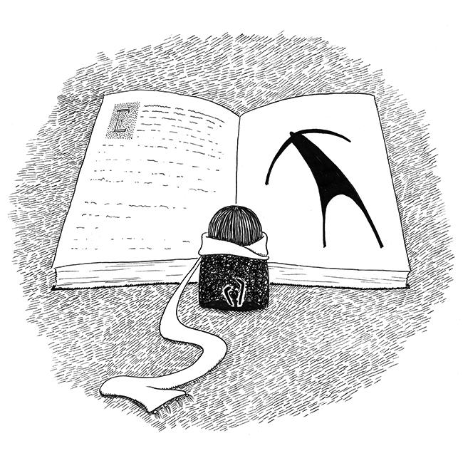 Little girl reading by Kira Bang-Olsson