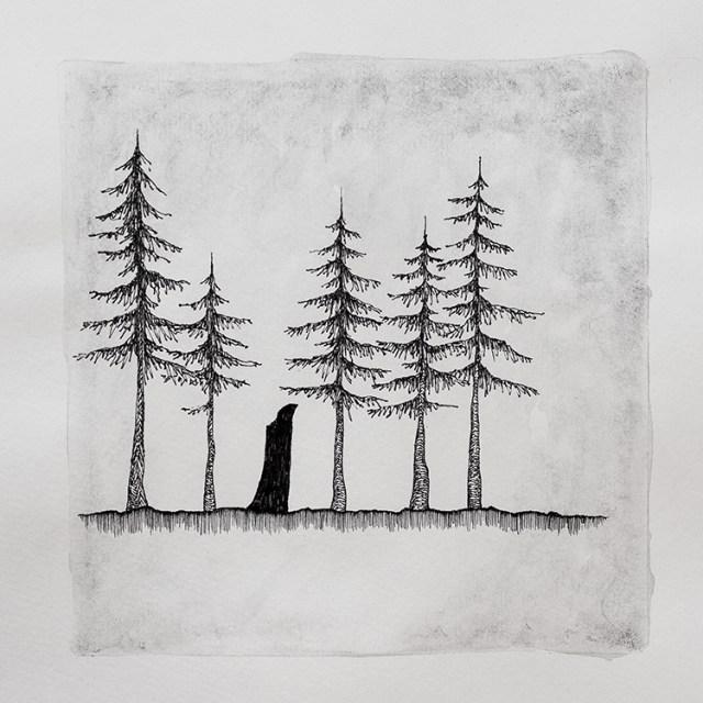 In darkness wanders - Illustration by Kira Bang-Olsson