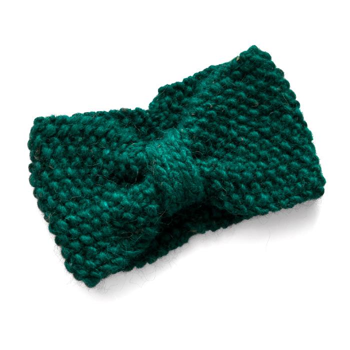 Strikke pandebånd i uld