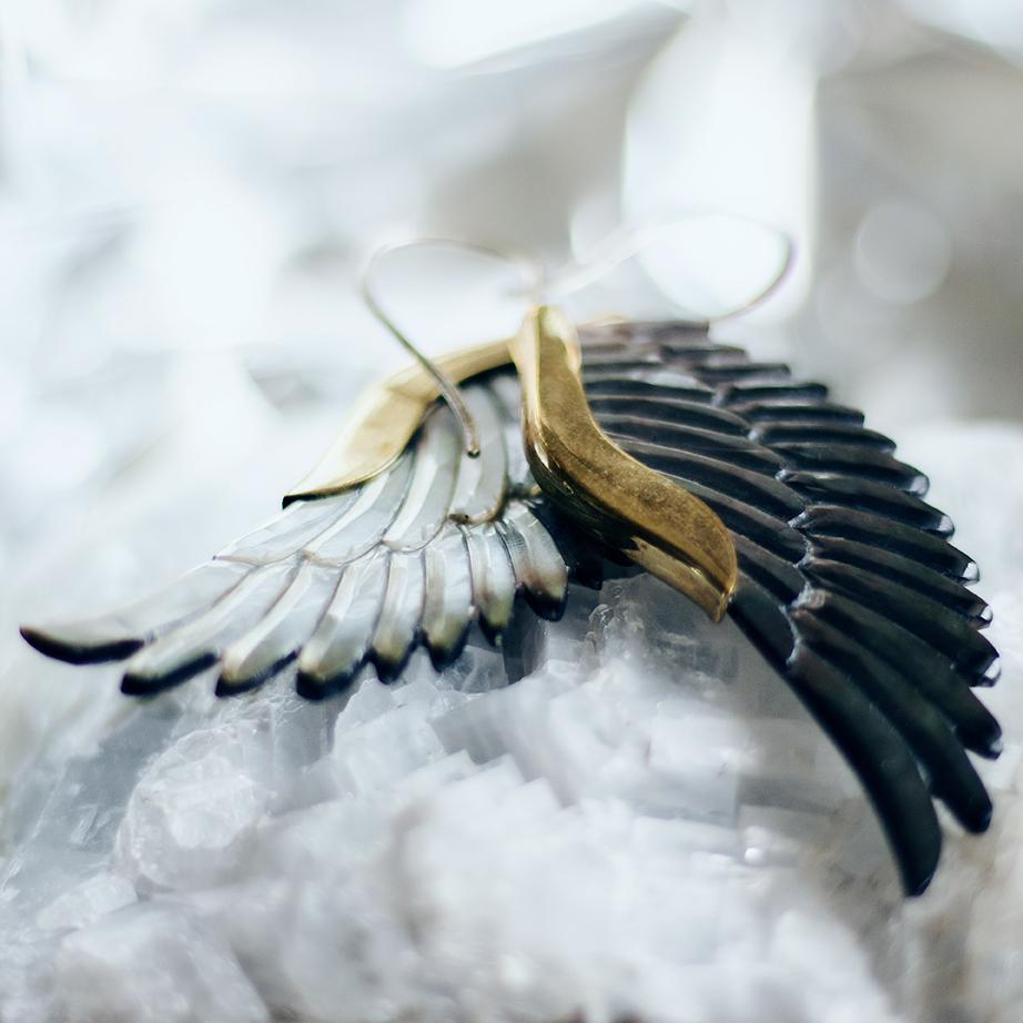 Øreringe formet som vinger | Kira Bang-Olsson