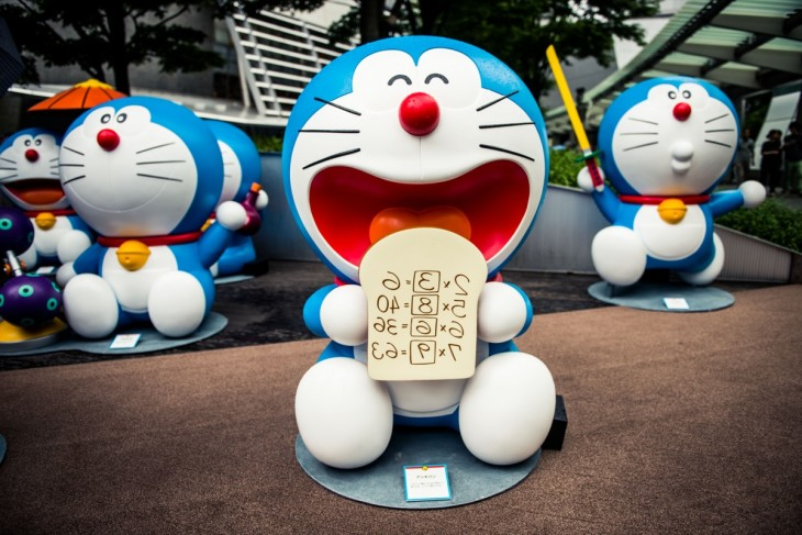 Doraemon Statues at Roppongi