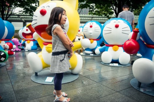 Doraemon Statues at Roppongi