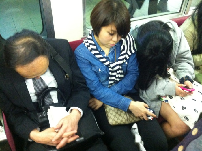 japanese people sleeping everywhere