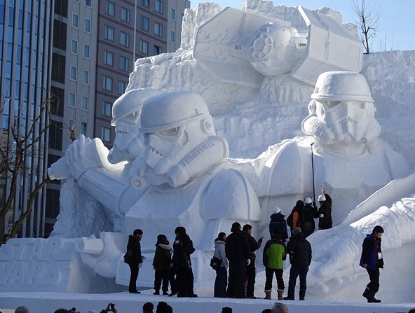 star wars ice statue