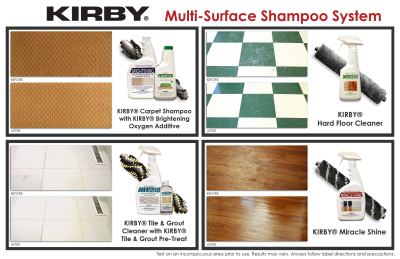 Kirby system cleans all types of hard surface floors