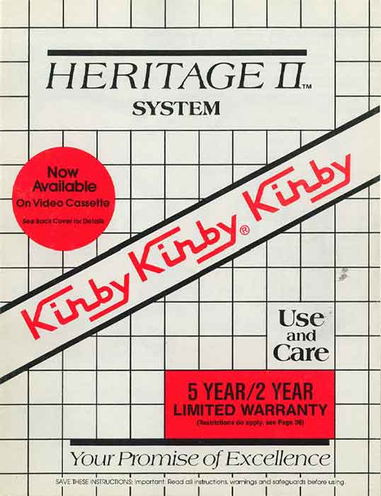 Download the Kirby Heritage II Owner Manual.