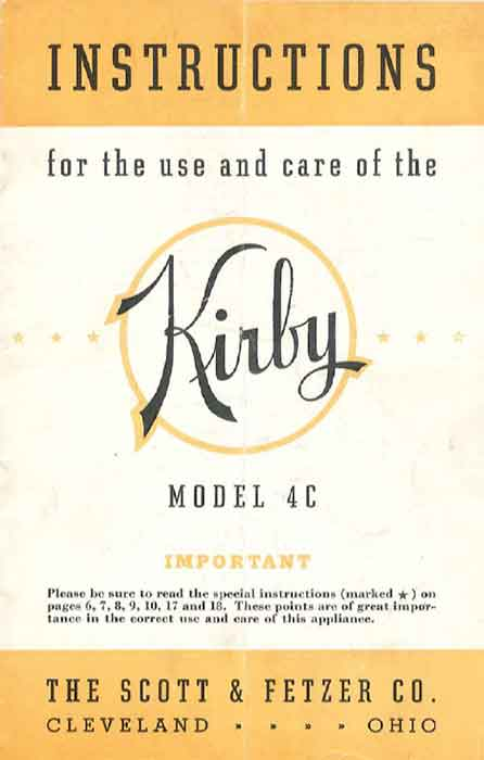 Download the Kirby Model 4C Owner Manual.