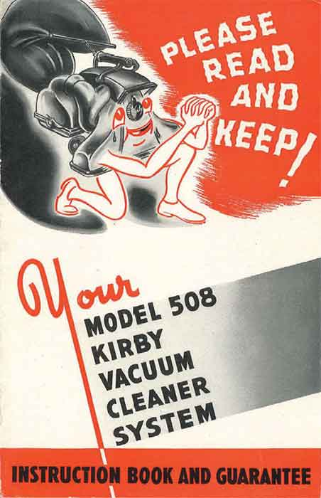 Download the Kirby Model 508 Owner Manual.