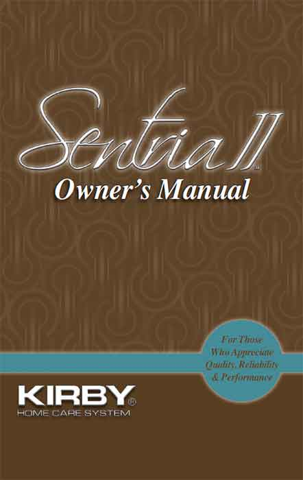 Download the Kirby Sentria II Owner Manual.