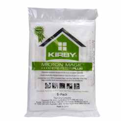 Kirby HEPA filter bags are disposable vacuum bags that trap dust and dirt keeping carpet clean.