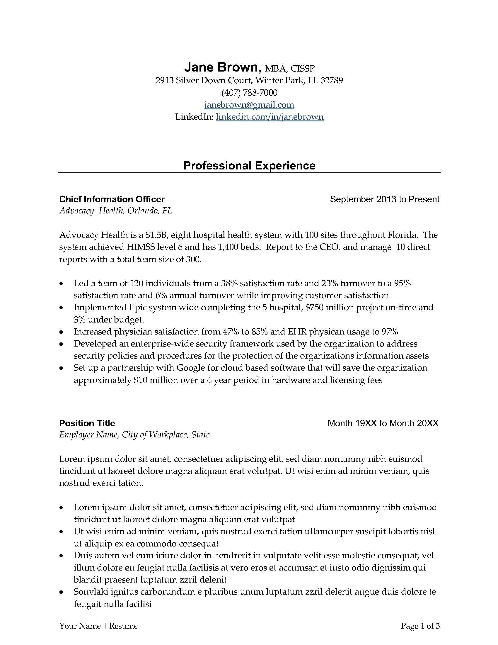 Here are a three common resume templates. Best Executive Resume Templates For 2021 Free Word Downloads