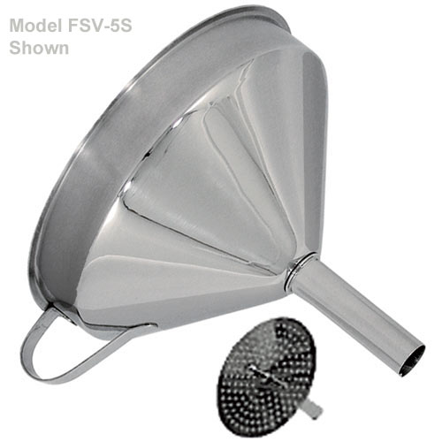 kitchen funnel nooks for sale shop update funnels utensils at kirby stainless steel w removable strainer 5 fsv 5s