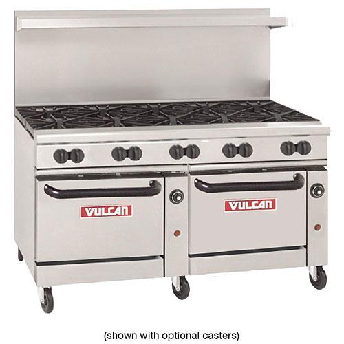 vulcan kitchen farm tables shop restaurant ranges cooking equipment at kirby endurance 60 gas range 10 burners w 2 standard ovens 60ss