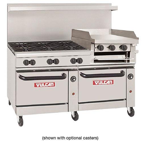 vulcan kitchen organizing shop cooking equipment at kirby endurance 60 gas restaurant range 6 burners 24 griddle broiler