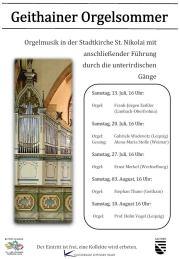 Plakat Geithainer Orgelsommer 2019