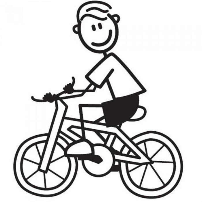 Malvorlage Fahrradfahrer - Food Ideas