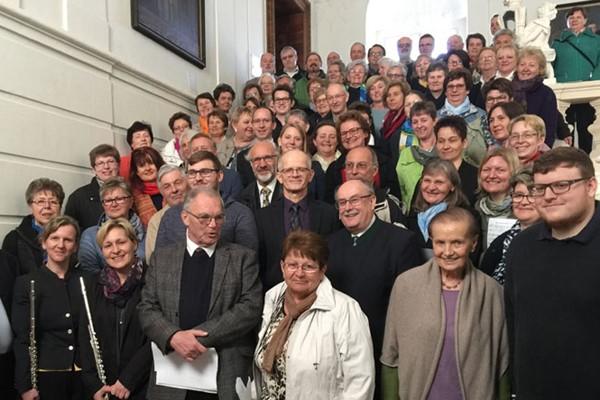 Großes Choraufgebot im Stift Geras