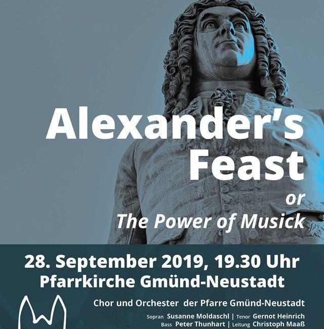 """""""Alexander's Feast"""" – Oratorium von G. F. Händel"""