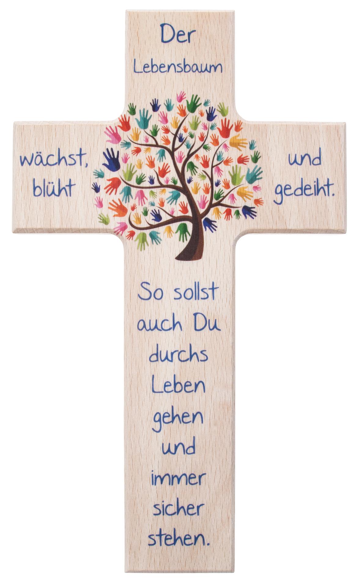 Kinderkreuz  Der Lebensbaum natur  bei KirchlicheKunstde