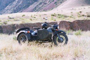 Sidecar on the Kirghiz trails