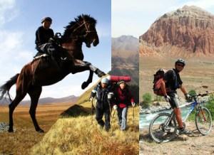 Cheval, VTT, trek en pays kirghize, Kirghizistan
