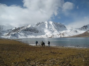 Trek in Pamir mountains
