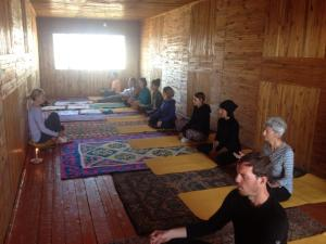 yoga in the land of celestial mountains